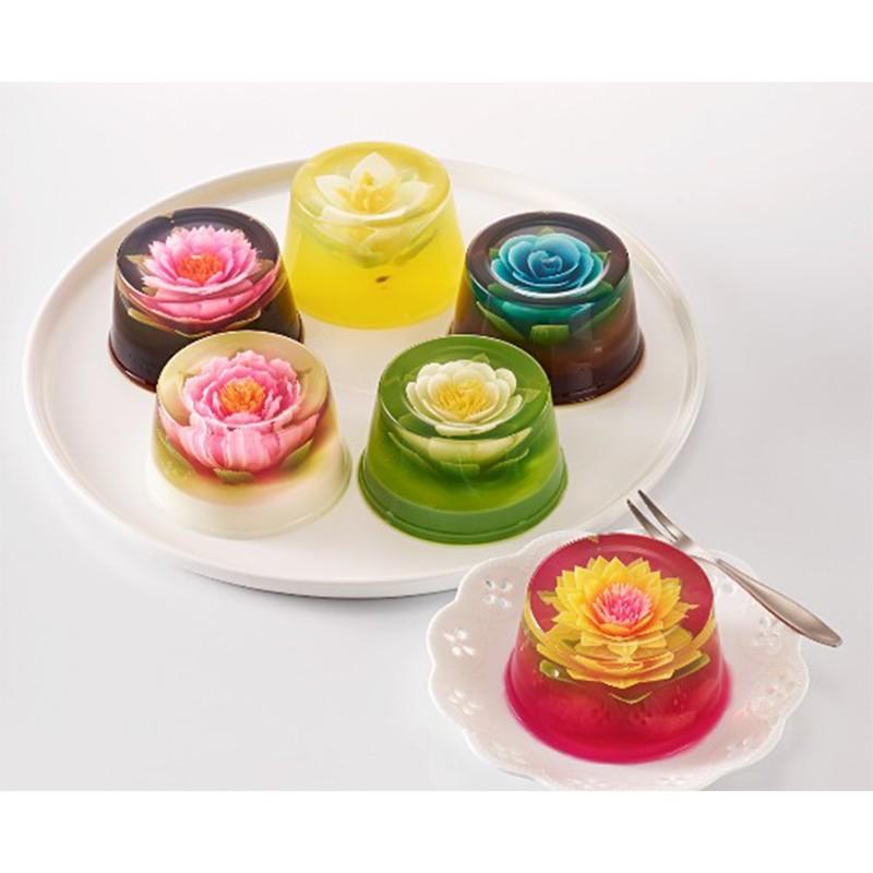 【3D果中花】 1盒 3吋果凍花6入禮盒裝-綜合口味