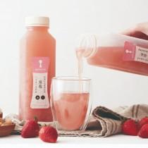 〈8more〉真材實料白木耳飲-10瓶草莓白木耳飲(900ml/瓶)(10瓶/箱)